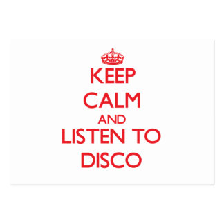 Keep calm and listen to DISCO Business Cards
