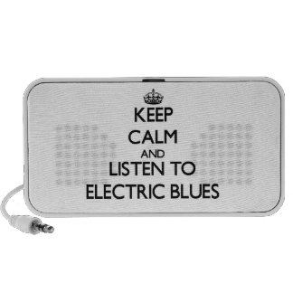 Keep calm and listen to ELECTRIC BLUES Notebook Speakers
