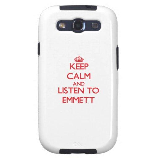 Keep Calm and Listen to Emmett Samsung Galaxy S3 Cover