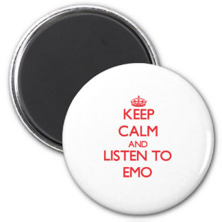 Keep calm and listen to EMO Fridge Magnet