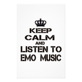 Keep Calm And Listen To Emo Music Stationery