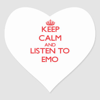 Keep calm and listen to EMO Heart Stickers