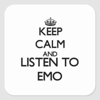 Keep calm and listen to EMO Square Sticker