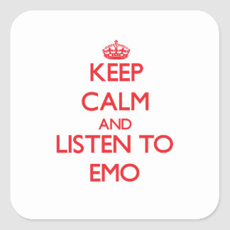 Keep calm and listen to EMO Sticker