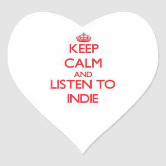 Keep calm and listen to INDIE Heart Stickers