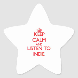 Keep calm and listen to INDIE Stickers