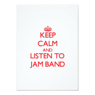 Keep calm and listen to JAM BAND Personalized Invitations