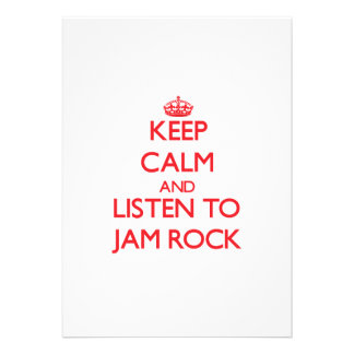 Keep calm and listen to JAM ROCK Cards