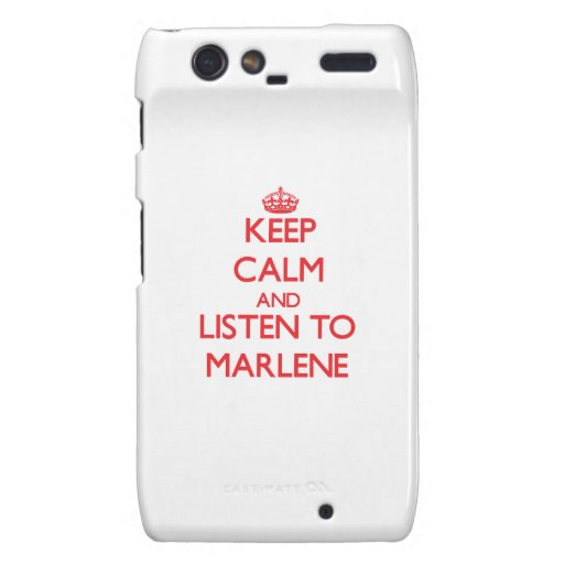 Keep Calm and listen to Marlene Droid RAZR Case