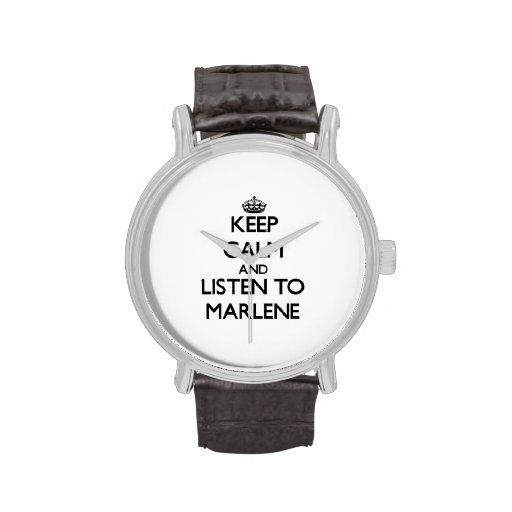Keep Calm and listen to Marlene Watch