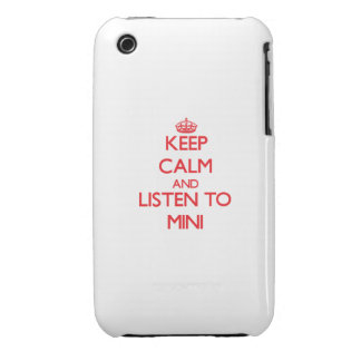 Keep calm and listen to MINI Case-Mate iPhone 3 Cases