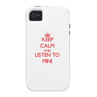Keep calm and listen to MINI iPhone 4/4S Case