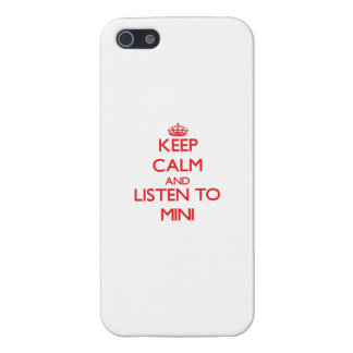 Keep calm and listen to MINI iPhone 5 Cover