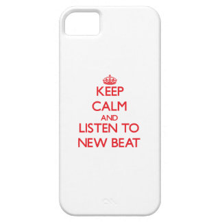Keep calm and listen to NEW BEAT iPhone 5/5S Covers
