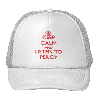 Keep Calm and Listen to Percy Trucker Hat