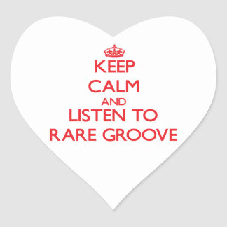 Keep calm and listen to RARE GROOVE Heart Sticker