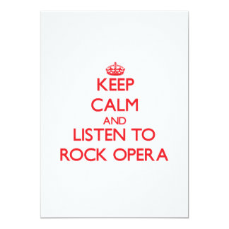 Keep calm and listen to ROCK OPERA Personalized Announcements