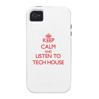Keep calm and listen to TECH HOUSE Vibe iPhone 4 Case