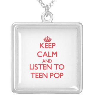 Keep calm and listen to TEEN POP Custom Jewelry