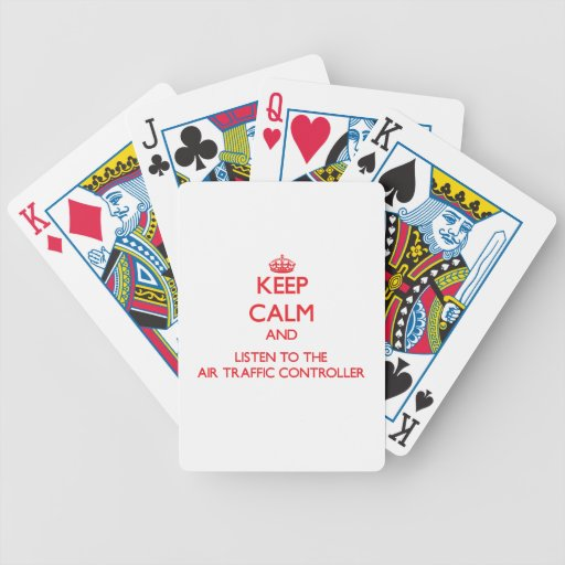 Keep Calm and Listen to the Air Traffic Controller Bicycle Card Deck