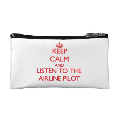 Keep Calm and Listen to the Airline Makeup Bag