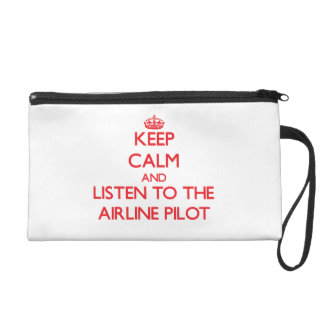 Keep Calm and Listen to the Airline Wristlet