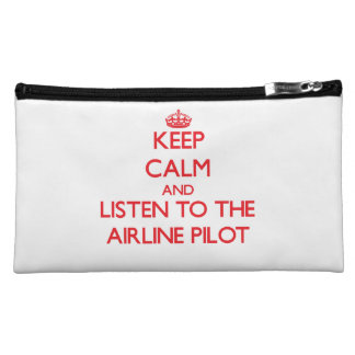 Keep Calm and Listen to the Airline Cosmetics Bags