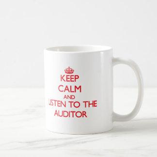 Keep Calm and Listen to the Auditor Basic White Mug