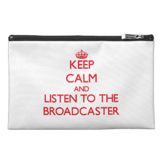 Keep Calm and Listen to the Broadcaster Travel Accessories Bag