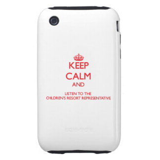Keep Calm and Listen to the Children s Resort Repr iPhone 3 Tough Case