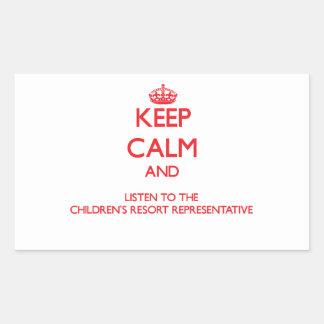 Keep Calm and Listen to the Children's Resort Repr Sticker