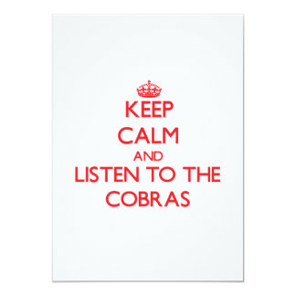 Keep calm and listen to the Cobras Custom Announcements