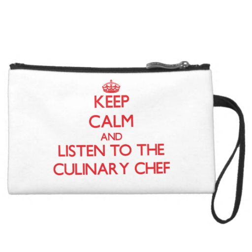 Keep Calm and Listen to the Culinary Chef Wristlets