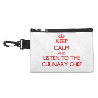 Keep Calm and Listen to the Culinary Chef Accessory Bag