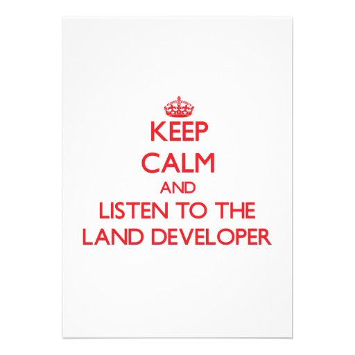 Keep Calm and Listen to the Land Developer Custom Announcements