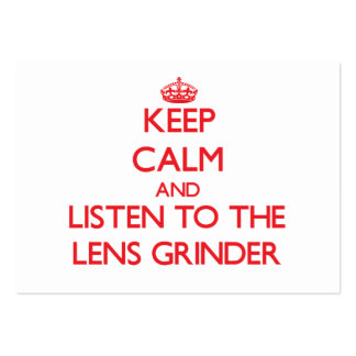 Keep Calm and Listen to the Lens Grinder Business Cards