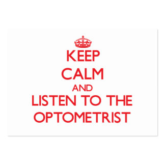 Keep Calm and Listen to the Optometrist Business Cards