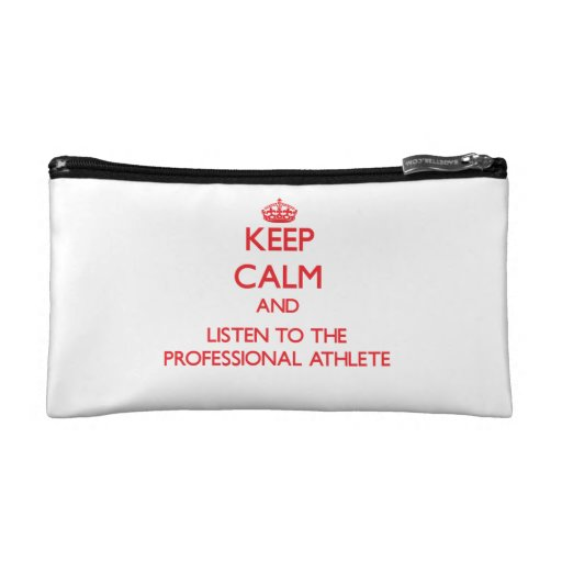 Keep Calm and Listen to the Professional Athlete Makeup Bag