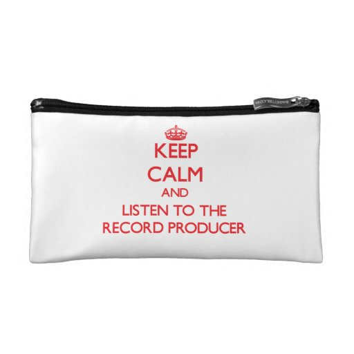 Keep Calm and Listen to the Record Producer Makeup Bags