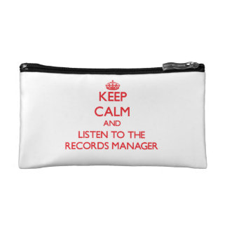Keep Calm and Listen to the Records Manager Makeup Bag