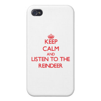 Keep calm and listen to the Reindeer iPhone 4 Case