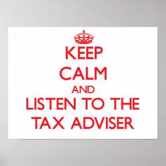 Keep Calm and Listen to the Tax Adviser Print