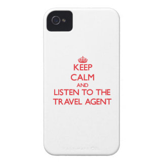 Keep Calm and Listen to the Travel Agent iPhone 4 Cases