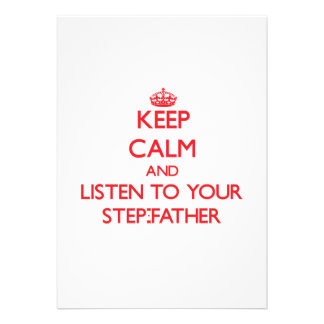 Keep Calm and Listen to  your Step-Father Cards