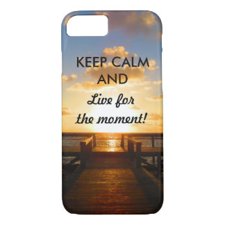 Keep Calm and Live for the Moment - Sunset Puts iPhone 8/7 Case