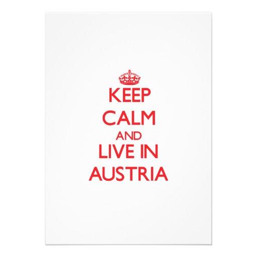 Keep Calm and live in Austria Custom Announcement