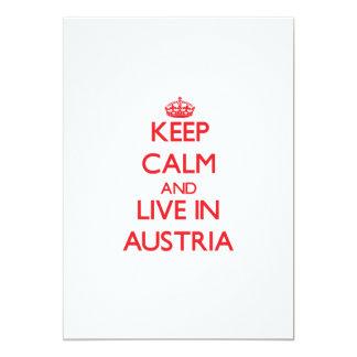 Keep Calm and live in Austria 13 Cm X 18 Cm Invitation Card