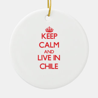 Keep Calm and live in Chile Christmas Tree Ornaments