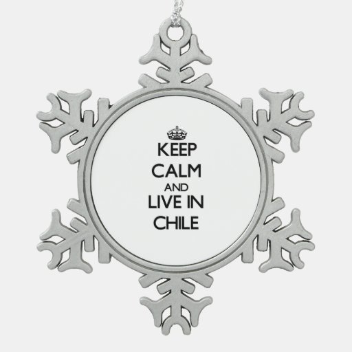 Keep Calm and Live In Chile Ornament