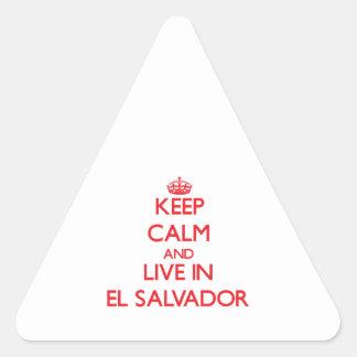 Keep Calm and live in El Salvador Sticker